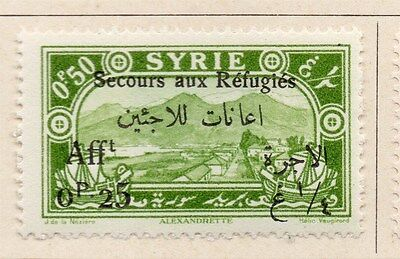 Syria 1926 Secours aux Refugies Fine Mint Hinged 25p. Optd Surcharged 047725