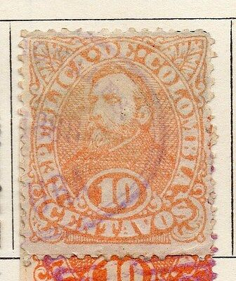 Colombia 1886-89 Early Issue Fine Used 10c.  047639