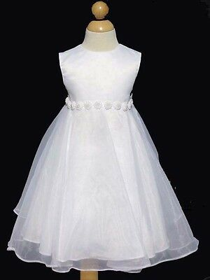 Toddler ,Baptism White Dress Size:  24 Month