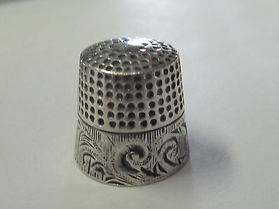 Scroll Design  Sterling Silver Thimble - (#17)