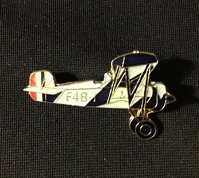 "Boeing P-12 / F4B Fighter Biplane Plane Lapel Hat Pin 1 1/4"" x 3/4"" New 1928-49"