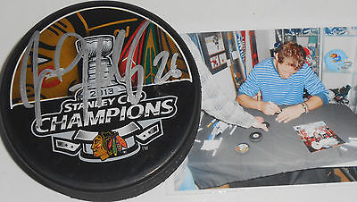 Michal Handzus Chicago Blackhawks Signed 2013 Stanley Cup Champs Puck A