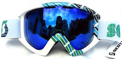 ae24629674ef NEW  110 Scott Sanction Plus Mens Adult winter white snow ski goggles Spy  Lens