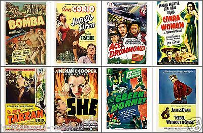 SPECIAL LOT Of 8 Individual ADVENTURE SERIAL JAMES DEAN 11x14 One Sheet Prints