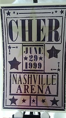 June 29 1999 Cher Nashville Arena Hatch Poster with Holder