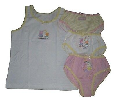 Girls Briefs Knickers Vest Top Set Official Peppa Pig 18-24 Months 2-6 Years