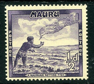 NAURU;  1954 early pictorial issue Mint MNH value,  1/2d.