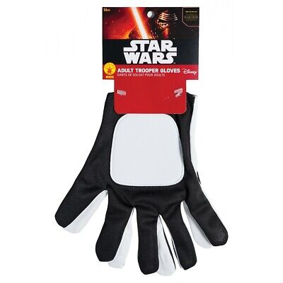 First Order Stormtrooper Gloves Adult Star Wars Costume Fancy Dress