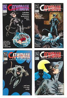 CATWOMAN 4-BOOK '89 MINI-SERIES (VF/NM to NM-) NEW ORIGIN/BATMAN (FREE SHIP)*