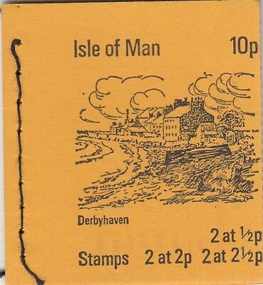 (82757) GB Isle of Man Booklet 10p SB1 1973