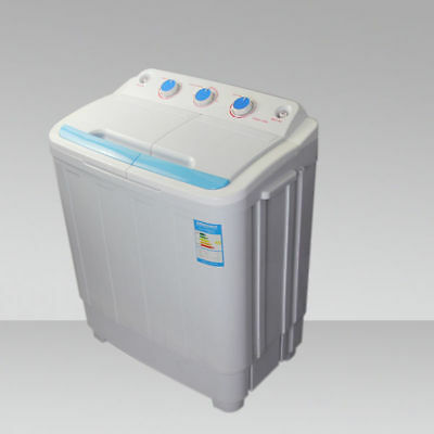 New Twin Tub Portable 230V Washing Machine For Outdoor Garden Camping Spin Dryer