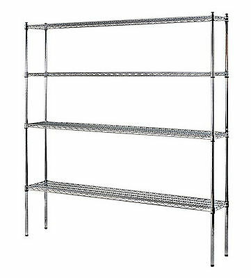 New Heavy Duty Storage Rack NSF Certified Chrome 4 Shelf Wire Shelving
