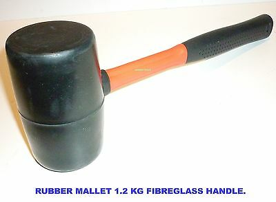 Rubber Mallet 1.2Kg With Fibreglass Handle- New.