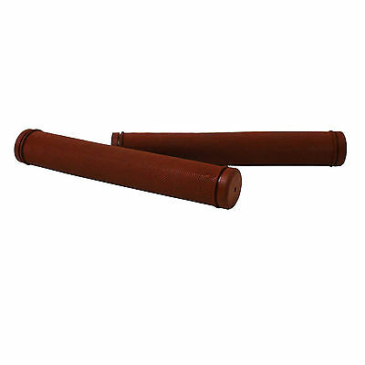 Virtue Bicycle Rubber Track Drop / Bullhorn Handlebar Grips Pair Brown