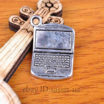 20pcs 21mm charms laptop Pendant Tibet Silver DIY Jewelry Making Charm A7377