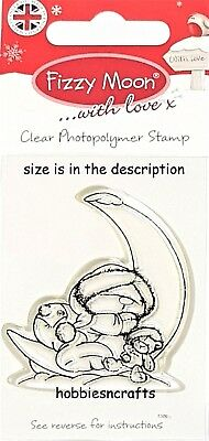 Dovecraft Fizzy Moon Small Clear Cling Stamps - Fzcs013 - Moon