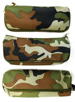 Boys Kids Camouflage Combat Army Green Pencil Pen Case School College or Home!