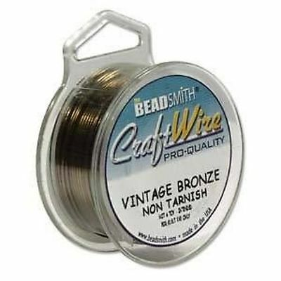 Beadsmith Vintage Bronze Craft Jewellery Wire Other Sizes 0.4mm - 1.2mm ML