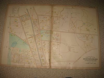 Antique 1900 Lower Merion Township Pennsylvania Map Haverford College Merion Nr
