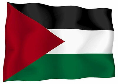 Sticker decal vinyl decals national flag car ensign bumper palestine palestinian