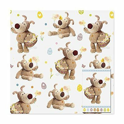 Boofle Easter Wrapping Paper & Gift Tag Set Giftwrap Set Wrap Up Easter Eggs