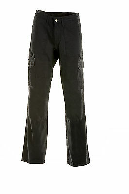 Draggin Jeans Cargo Black Kevlar Motorcycle Trousers New RRP £139.99!