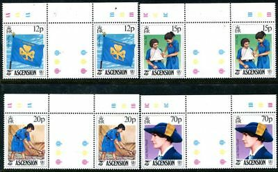 Ascension 377-380, MNH, Girl Scouts Gutter Pairs. s6756