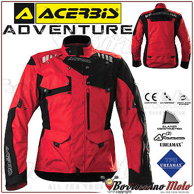 Giacca Tecnica Moto Acerbis Adventure Offroad Cross Enduro Touring Rosso Tg. Xl