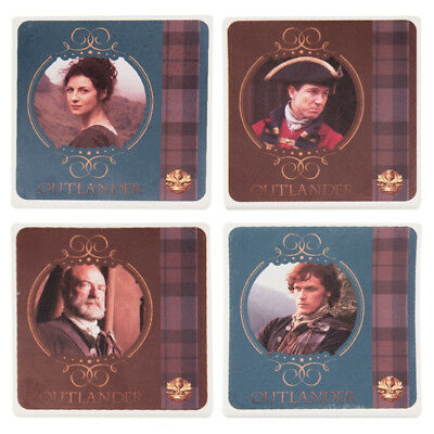 Outlander TV Series Photo Images 4 Piece Set of Ceramic Coasters, NEW SEALED