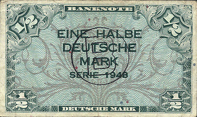 Ro.231a 1/2 Deutsche Mark 1948 B-Stempel (3)