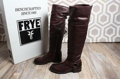 NIB Frye Veronica Harness Over The Knee Boot 7.5 Dark Brown Leather $528