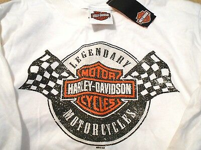 """NWT Harley Davidson Youth Motorcycle T Shirt """"Winners Checkered Flag"""" XS"""