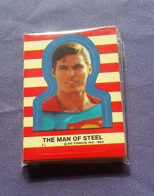 Superman 3 / III Movie Trading Cards Complete Set of 22 Stickers Topps 1983