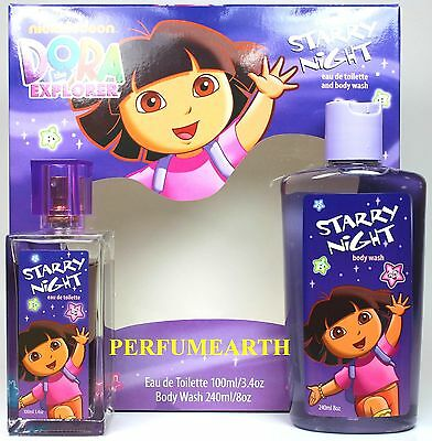Dora Starry Night 2 Pcs Set With 3.4oz Edt Spray For Kids New In Box