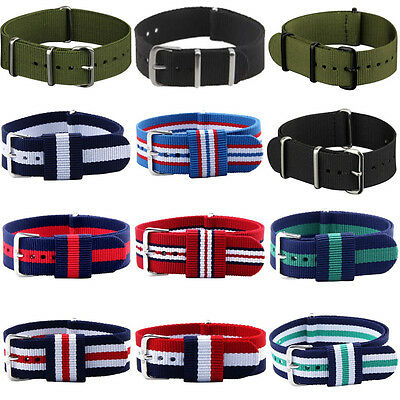 2016 Nato Style Replacement Band Canvas Stainless Steel Watch Strap Belt 20MM