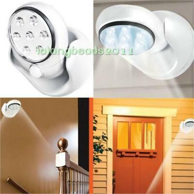 7 Led Motion Activated Swivel Cordless Sensor Light In/outdoor Security Lamp La