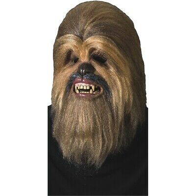 Deluxe Chewbacca Full Latex Mask Star Wars Adult Men Halloween Costume Accessory
