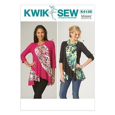 Kwik Sew Sewing Pattern By Kerstin Martensson Misses Tops Size Xs - Xl K4136