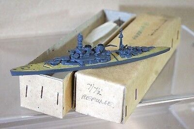 TREMO TM HMS REPULSE 1:1200 WWI WWII BATTLECRUISER MODEL SHIP MIB RARE mr