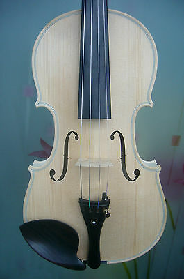 4/4 violin Stradi model 1715 set fitting but unvarnished 100 years spruce top