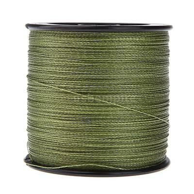 500M 30LB 0.26mm Fishing Line Strong PE Braided 4 Strands Green Strong G5B9