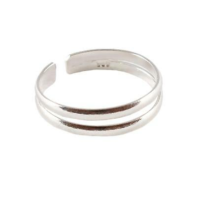 Sterling Silver Toe Ring - Split Double Ring Design - BOXED