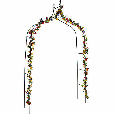 Metal Garden Arch Climbing Plants Roses Flowers Archway Arbour 2.6M Gothic Style