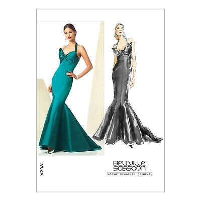 VOGUE BELLVILLE SASSOON Sewing Pattern Misses\' Evening Dress Sizes 6 ...