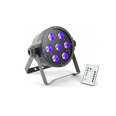 POWER PAR STRAHLER 7x 18W 6-in-1 HEXCOLOR RGBAWUV-LED FARBEFFEKT UV-LICHT PARTY