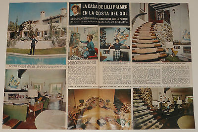 LILLI PALMER At Home 2 page 1975 article photos magazine actress clippings