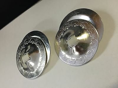 Pair of Finger Cymbals For Bellydance - ZIlls - Made In India (Silver)