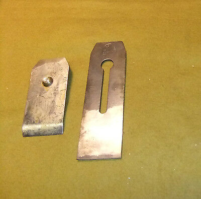 """S.Ashton, Sheffield 2.1/4"""" Double Plane Iron, Tapered, Approx 7.1/2"""" Long"""