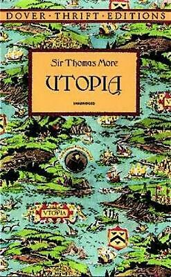 Utopia: A Dual-Language Book by Thomas More (English) Paperback Book Free Shippi