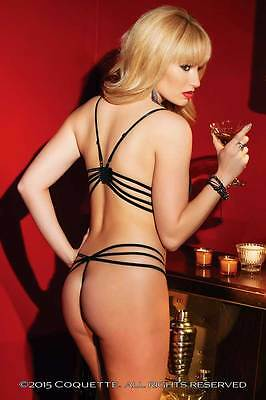 Seductive Passion Lingerie Printed Mesh Strappy Open Back Teddy Adult Women